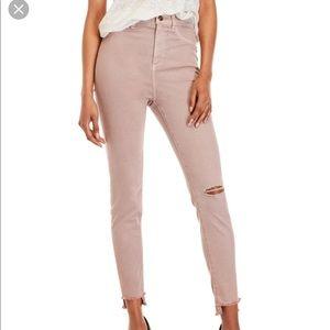 Sneak peek high rise/raw step hem blush jeans  9